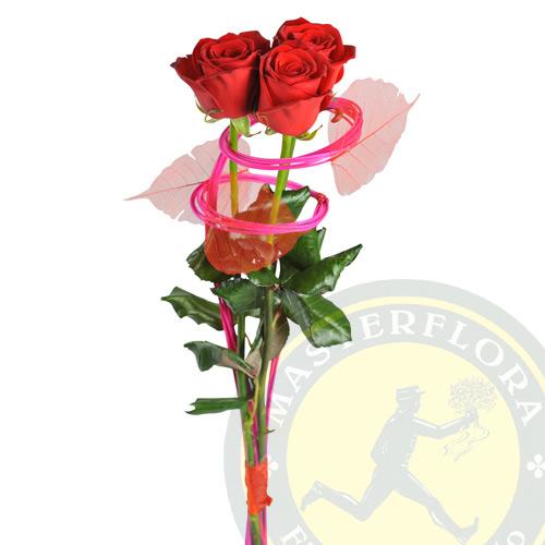 Tenero Amore (Composizione di rose rosse)
