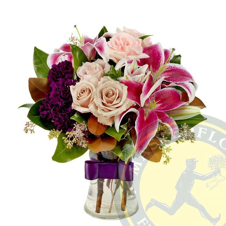 Dono floreale - Fiori misti di stagione in contenitore